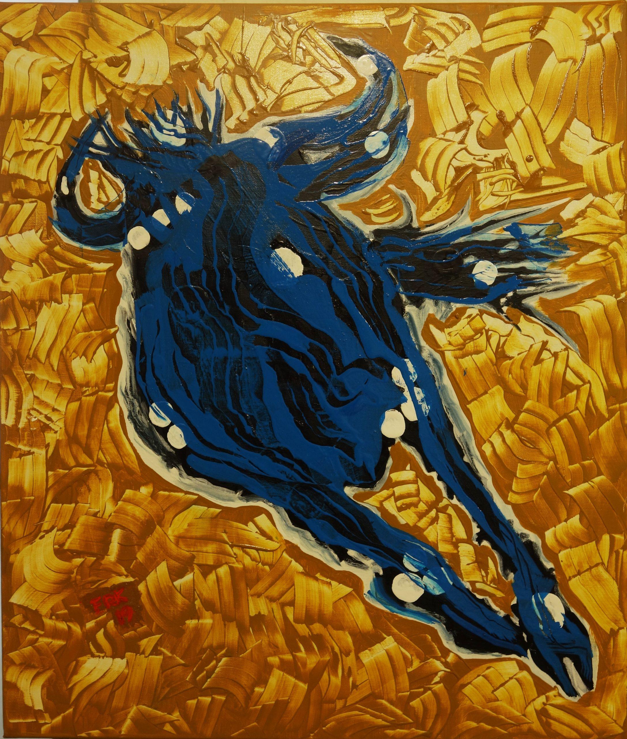 blaues wildebeast 70x60 2019