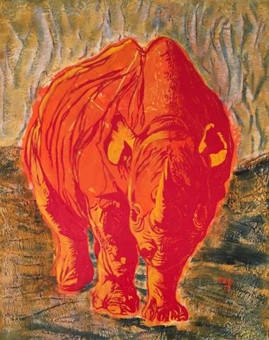 rotes rhino 100x80 2012