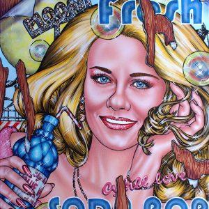 Beauty, blonde, soda pop, pop star
